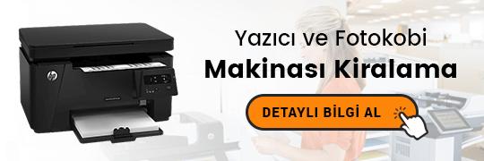 yazıcı ve fotokobi makinası kiralama